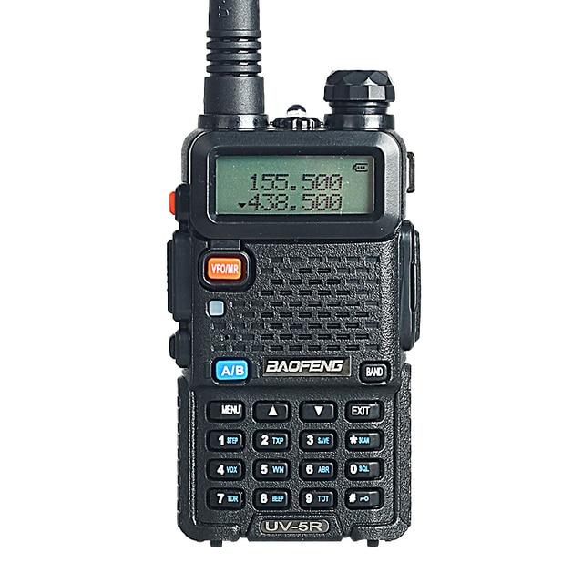Baofeng УФ-5R Рация 5 Вт 128CH Dual Band Двухстороннее Радио UHF УКВ ЧМ VOX Pofung УФ-5R ham радио Двойной Дисплей гарнитуры