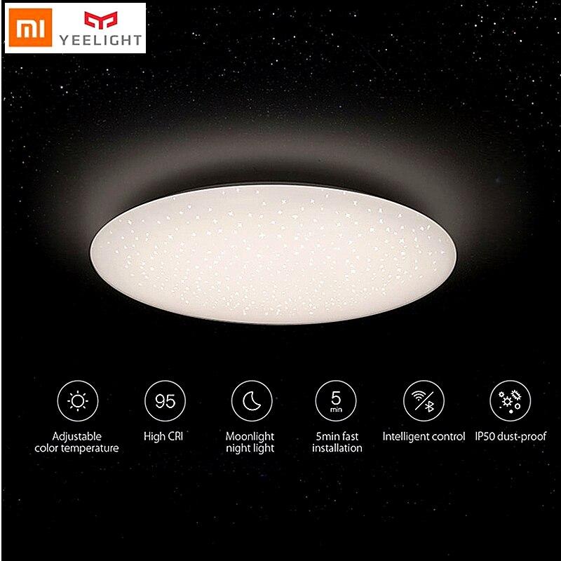 Yeelight Smart LED plafonnier lampe salon chambre blanc étoile maison wifi à distance Google Assistant Alexa xiaomi mijia APP