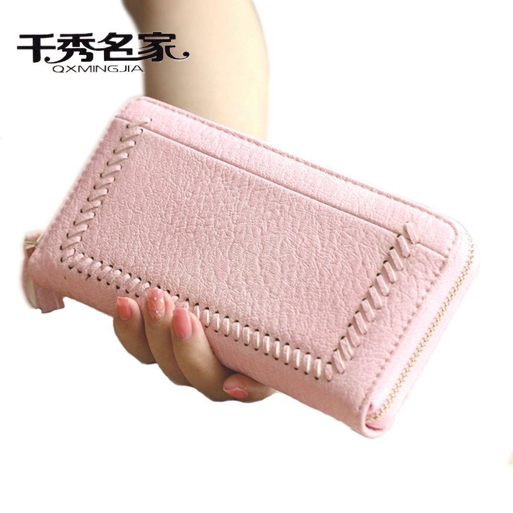 QXMINGJIA Women Wallet trifold Leather Wallet Famous Brand Long Purses Bag High Quality Money Clip Tassel Designer Zipper Clutch  bvlriga women wallets famous brand leather purse wallet designer high quality long zipper money clip large capacity cions bags