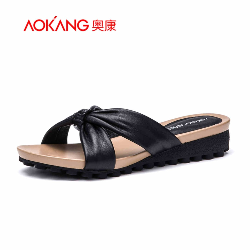 aliexpress buy aokang sandals genuine leather