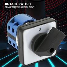 Rotary Cam Switch 4-Position 2 Pole Rotary knob Cam Changeover Switch Electric Motor Reversing Switch 660V 20A ac09 01j rotary switches band switch cnc panel knob switch
