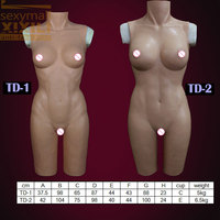 TD 2top quality realistic silicone breast forms for crossdresser, silicone tight dress cross dressing costume props