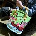 Дизайн 3D комикс сладкий цветы ведро мешок леди сумочка наплечная сумка через - тело сумка-мессенджер 2 цвета