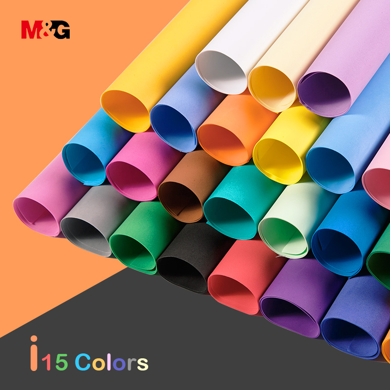M&G Sponge Paper Colorful DIY Foam Paper Sponge Handmade Paper Wholesale Large Thick Foam Paper Origami For School Kids Gifts