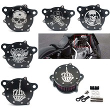 Air Filter Cleaner Intake Motorcycle Accessories Filter System Kit For Harley Sportster XL1200 Iron 883 цены