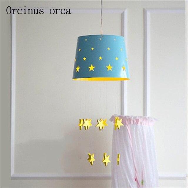 Nordic modern minimalist star children\'s room chandeliers cartoon ...