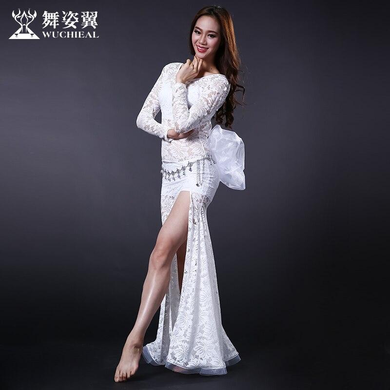 2016 Распродажа реального Для женщин хлопок живота Танцы костюм WUCHIEAL бренд живота женщина Танцы костюм платье Одежда для представлений 2625