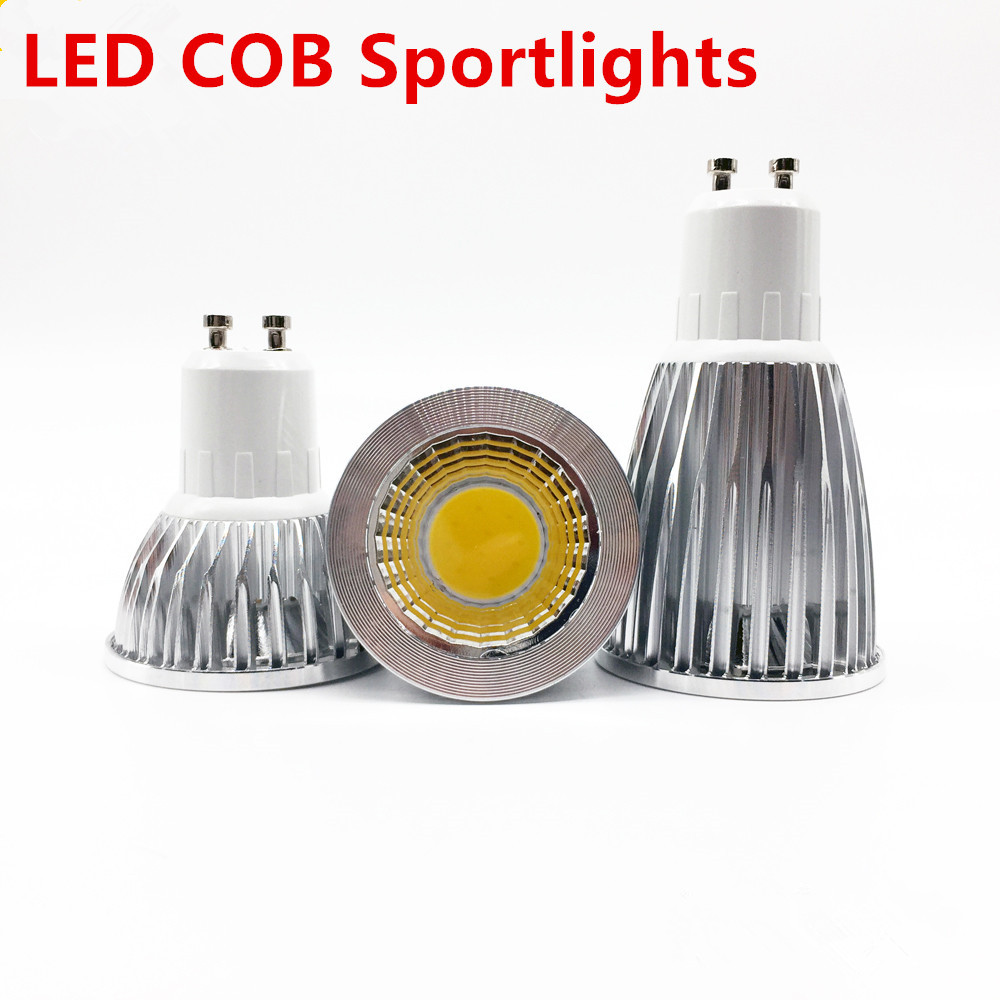Super Bright GU10 Light Bulb Dimmable Warm / White 85-265V 6W 9W 12W Gu10 COB Lamp LED GU10/E27/E14 LED Spotlight