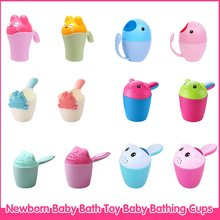 Newborn Baby Bath Toy Baby Bathing Cups Cute Animal Shampoo Cup Baby Kids Cartoon Bathing Cup Wash Cup recien nacido(China)