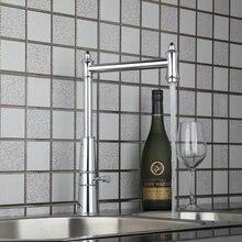 Высокий горячая холодная хромированный воды Кухня умывальник кран + шланг 92453-1 умывальник водопроводной воды судно Санузел кран, смеситель