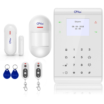 CPVan Wireless 3G GSM SMS alarm systems security home Smart IOS Android APP Control home security PIR Motion Sensors DIY Kit voice prompt wireless wired sms gsm alarm system home auto security systems with pir door alarm sensor app control device kit