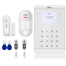 CPVan Wireless Home GSM Security Alarm System DIY Kit APP Control With Auto Dial Motion Detector Sensor Burglar Alarm System gsm alarm auto dial home security and fire protection alarm system ios android app sensor