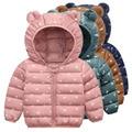 Детская одежда-новинки одежда для малышей зимняя куртка-пуховик; Одежда для мальчиков и девочек; Высокое качество; Теплая верхняя одежда с к...