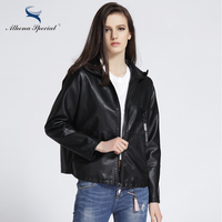 Athena Special 2017 Designer Leather Jackets For Women Casual PU Faux Leather Basic Jackets Ladies Street