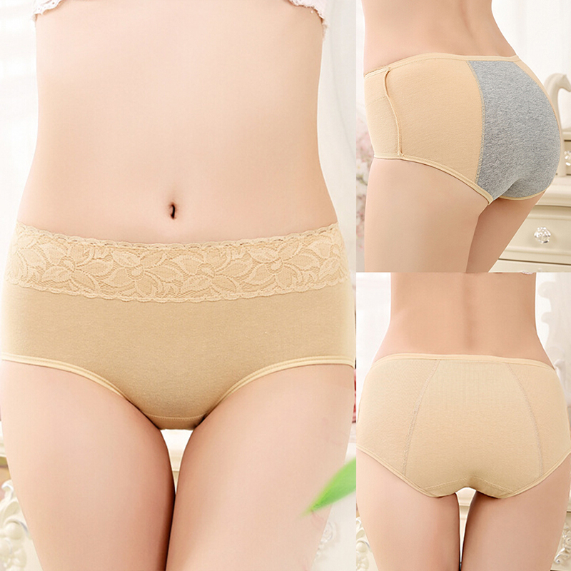 New Ladies Healthy Physiological Leak Proof Underwear Lengthen the Broadened Female Brief  Women Menstrual Period Cotton Panties