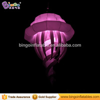 Hanging led inflatable jellyfish balloon 2m long toy