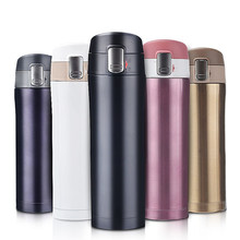 350ML/450ML Stainless Steel Double Wall Insulated Thermos Cup Vacuum Flask Coffee Mug Travel Drink Bottle Home Office Thermocup(China)