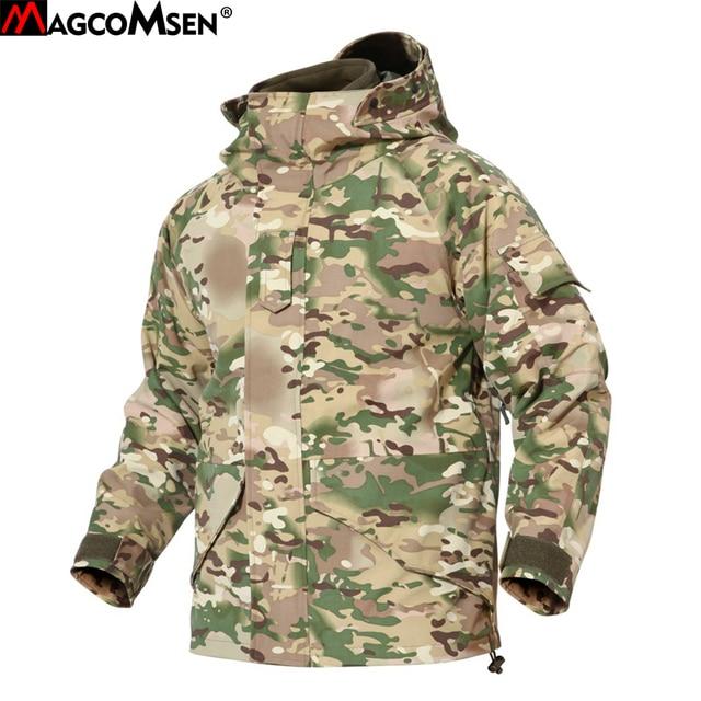 MAGCOMSEN Jackets Men Winter Thermal Waterproof Windproof Tactical Coats Windbreakers Combat Camo Army Hoodies Clothing PLY-57