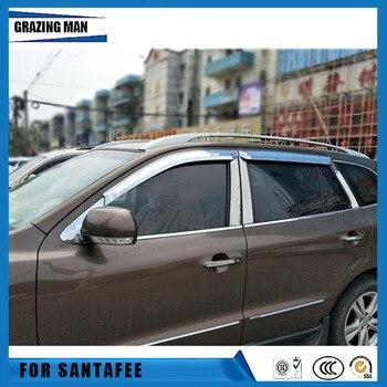 Sun visor Car accessories Window Visor Vent Shades Sun Rain Deflector Guard 4PCS/SET for santafee 2008