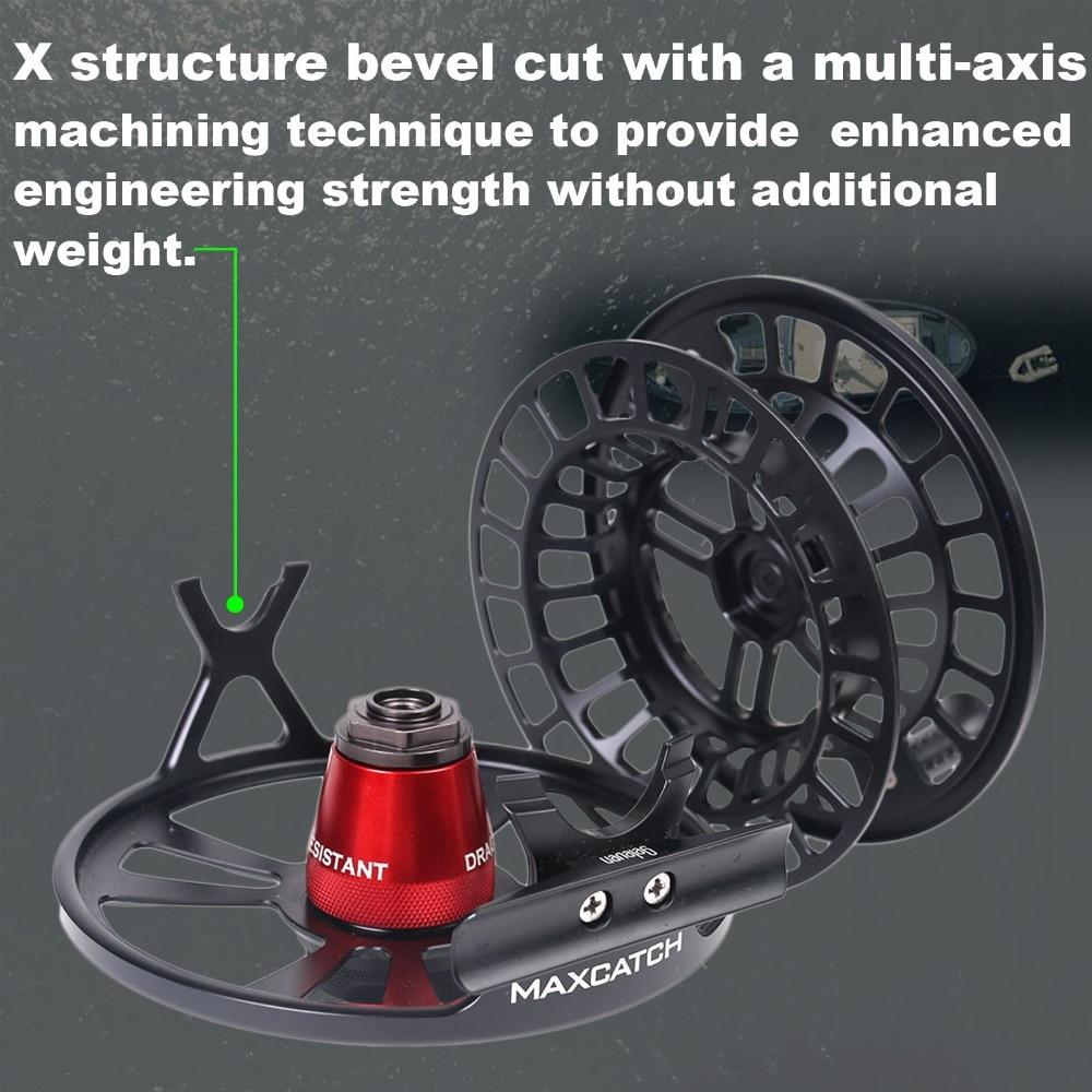 Профессиональная катушка для ловли нахлыстом Maximumcatch Maxcatch SPRINT, Полностью герметичная, 100% водонепроницаемая, обработанная на станке с ЧПУ, катушка для ловли нахлыстом 3