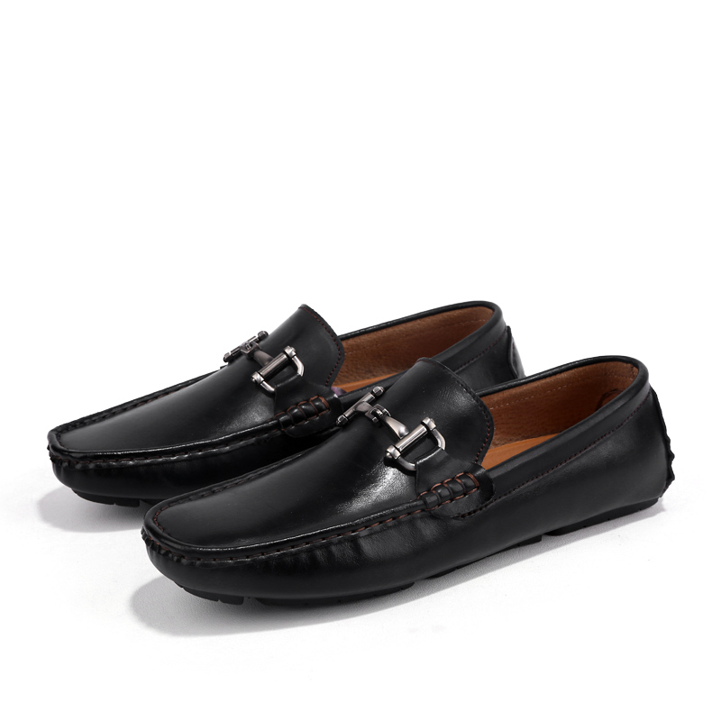 Top Genuine Leather Slip On Lofers Mens Casual Shoes Fashion Driving - Men's Shoes - Photo 2
