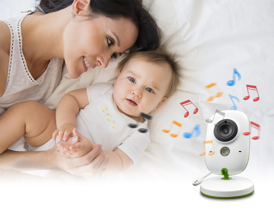 Image 4 - Baby Monitor Wireless Audio Video Baba Electronic Portable Intercom Babyfoon Camera BeBe Nanny Walkie Talkie Babysitter VB602-in Baby Monitors from Security & Protection