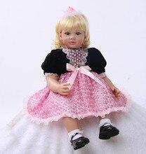 55 см Силиконовые Reborn Baby Doll Toys Принцесса Малышей Прекрасный Подарок На День Рождения Подарок Девушки Brinquedos Лимитированная Коллекция Дол
