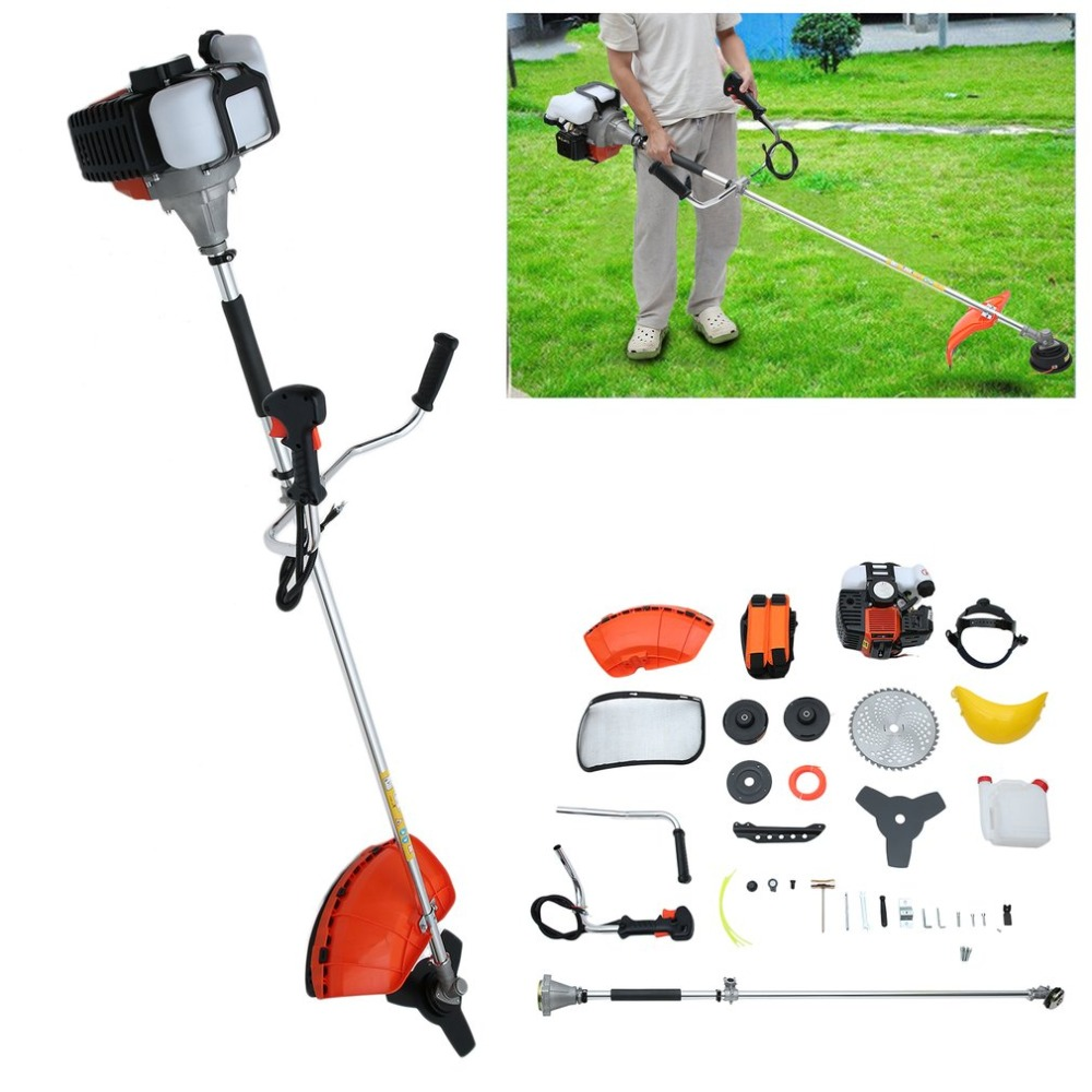 Hedge Trimmer Durable Grass Trimmer 2 Stroke Gasoline Strimmer With Chest Strap Garden Chainsaw Universal Multi Garden Tool Set multi powerful 52cc gasoline brush cutter 4 in 1 grass trimmer strimmer cutter garden manual work tool