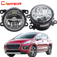 Cawanerl 2 Pieces Car Styling LED Fog Light 4000LM Auto DRL Daytime Running Lamp 6000K White