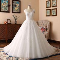 Lover Öpücük Düğün Elbise Yeni Tasarım Balo Dantel Gelinlik Sevgiliye Boncuklu Kanat Backless Vintage Törenlerinde Vestido De Noiva