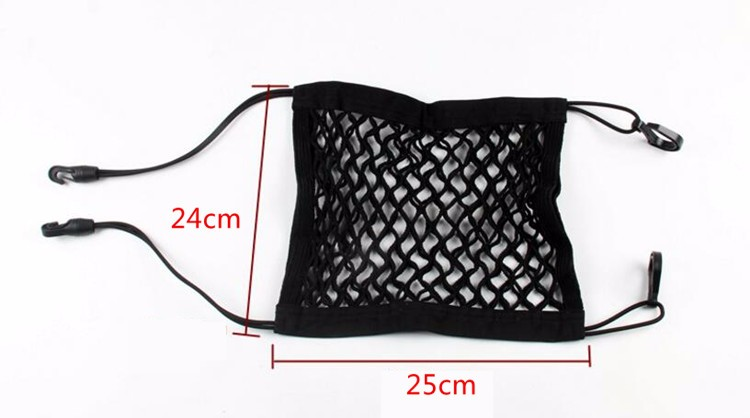 24X25cm Universal Elastic Mesh Net trunk Bag/Between Car organizer Seat Back Storage Mesh Net Bag Luggage Holder Pocket 5