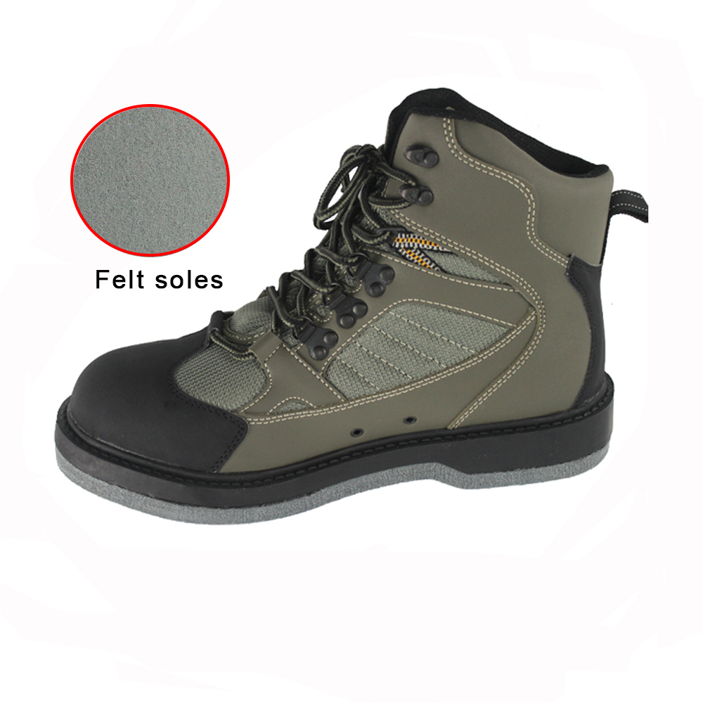 Men's Hunting Wading Shoes Breathable Waterproof  Boot Outdoor Fishing Anti-slip Wading Waders Felt Soles Boots 39 45 size pvc fishing waders footwear for fishing trango breathable rubber boots overalls waterproof fishing shoes fo22