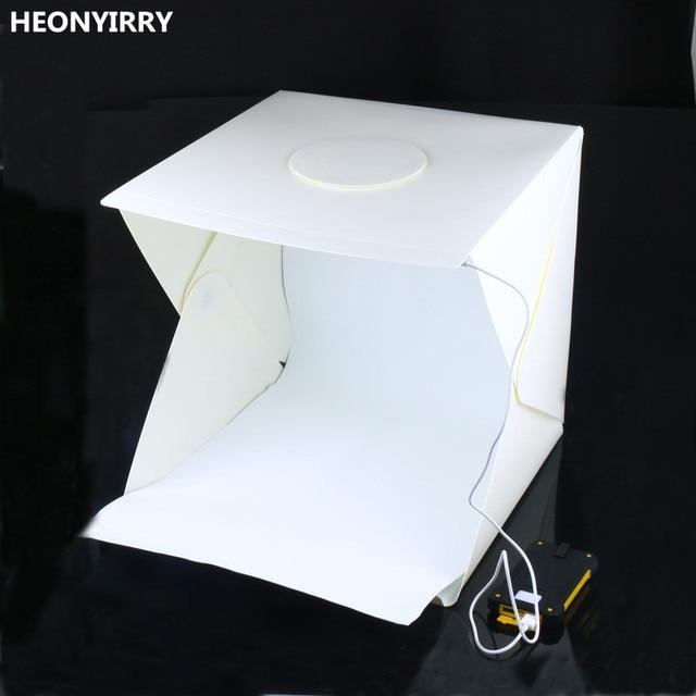 40x40x40 см бокс для фотостудии фотографии фон фотобокс со встроенной вспышкой маленькие предметы фотография коробка аксессуары для студии