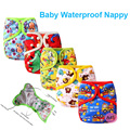 1PC Happy Flute Nappy Cover One Size Reusable Baby Nappies Babies Waterproof Cloth Diaper Insert Breathable Nappy  Cover Insert