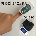 with Black Case PI ODI Pulse Oximeter SPO2 PR Blood Oxygen Monitor Beep&Visual and Sound Alarm Sleep Measure Solid Waveform