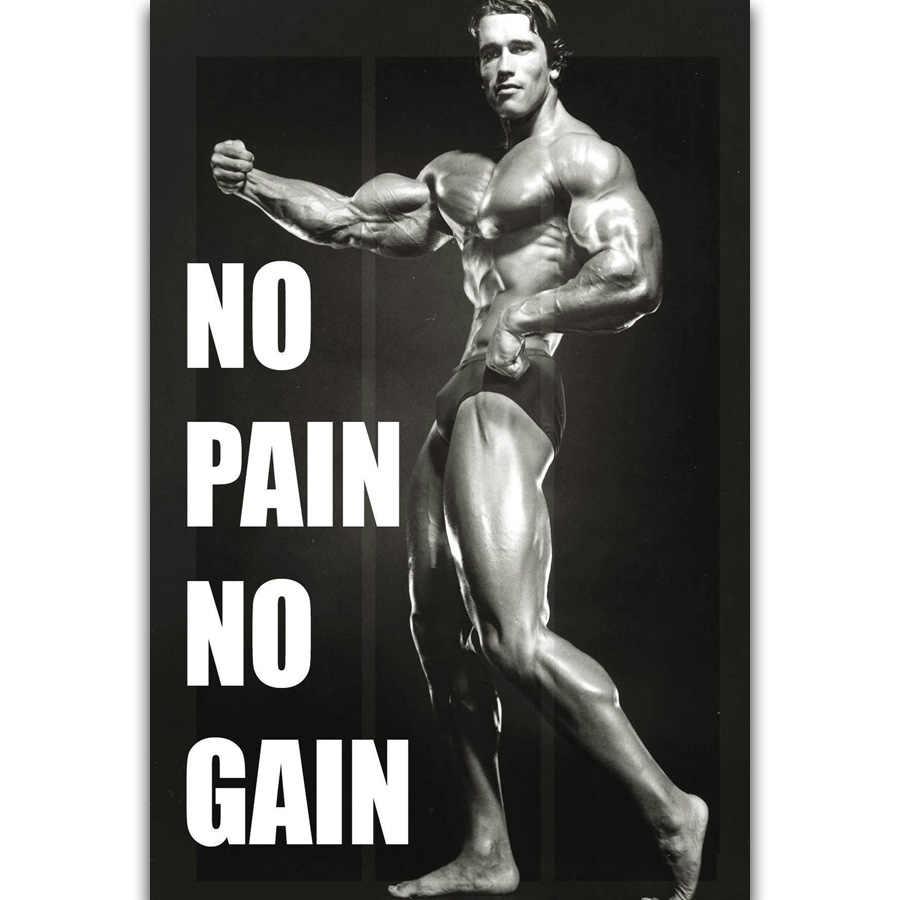 S2343 Arnold Schwarzenegger Fitness Inspirational Quote