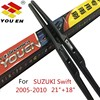 YOUEN 2Pcs Car Wiper Blade 21 18 For SUZUKI Swift 2005 2010 Auto Soft Rubber Windscreen