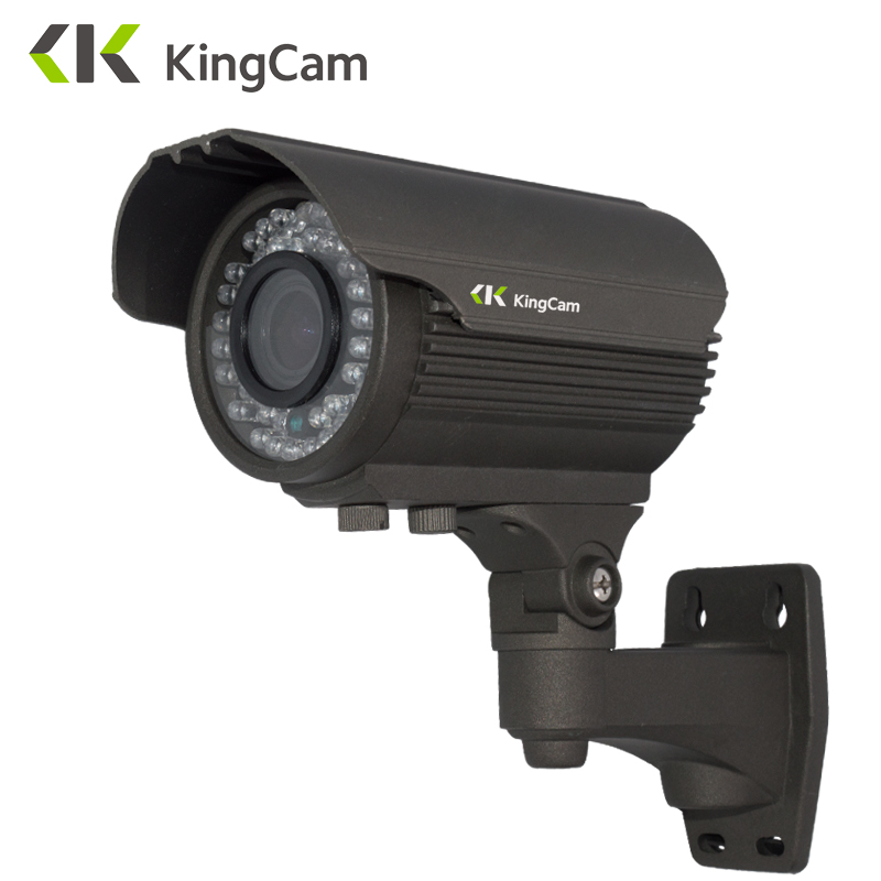 KingCam 1080P 48V POE 2. 8mm-12mm Manual Varifocal Zoom Lens  Surveillance IP Camera Outdoor ONVIF Bullet 2MP Security ipcam russian cctv security ip camera 5mp 1080p outdoor 2 8mm varifocal 4x manual zoom built in heater ip surveillance street camera