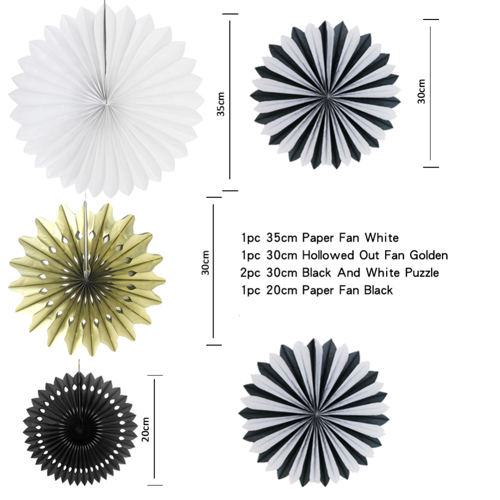 10pcs Paper Decoration Set Paper Rosette Banners Honeycombs Stars Circle Garland Hanging Decor Wedding Birthday Party Shower in Party DIY Decorations from Home Garden