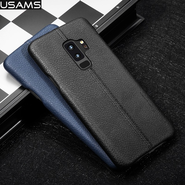 detailed look 9d5d1 97278 US $12.68 |USAMS Brand JOE Series pu Leather Slim Back Case For Samsung  Galaxy S9 Plus / S9 / Note 8 / S9+ Phone Cover-in Half-wrapped Case from ...
