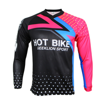 Geeklion New Breathable Cycling Jersey MTB Downhill Sport Wear Racing Bike Long Sleeve Shirt Motocross Clothing(China)