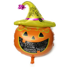 105*65cm Large Halloween Party Balloons Laughing Pumpkin Head Decorative Foil Balloons Halloween Party Supply Home Decoration