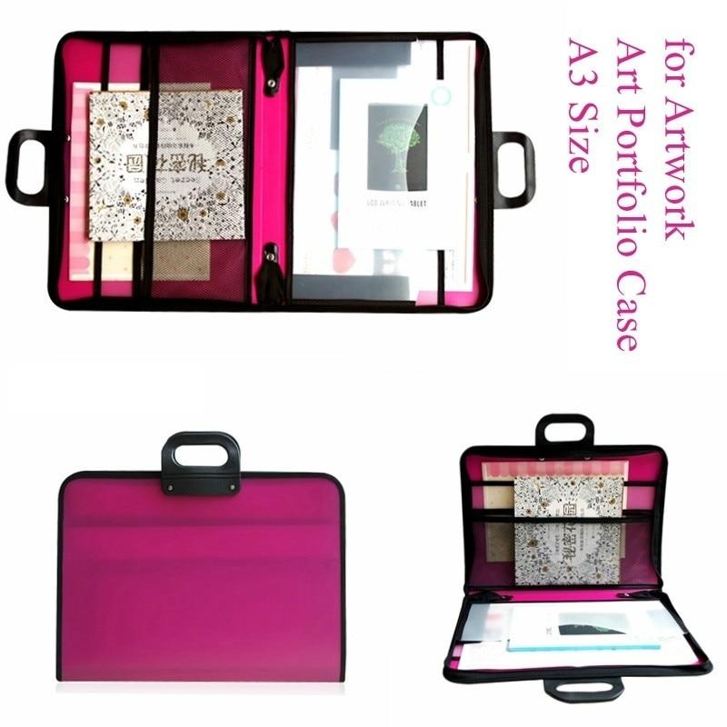 Porte-documents Art A3 imperméable à l'eau pour œuvre d'art-sac de transport à glissière d'artiste avec stockage pour la photographie de dessin ou l'affiche