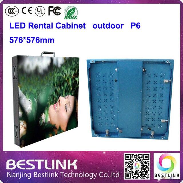 P6 открытый из светодиодов с алюминиевый прокат кабинет 576 * 576 мм для rgb наружная реклама рекламный щит электронный экран