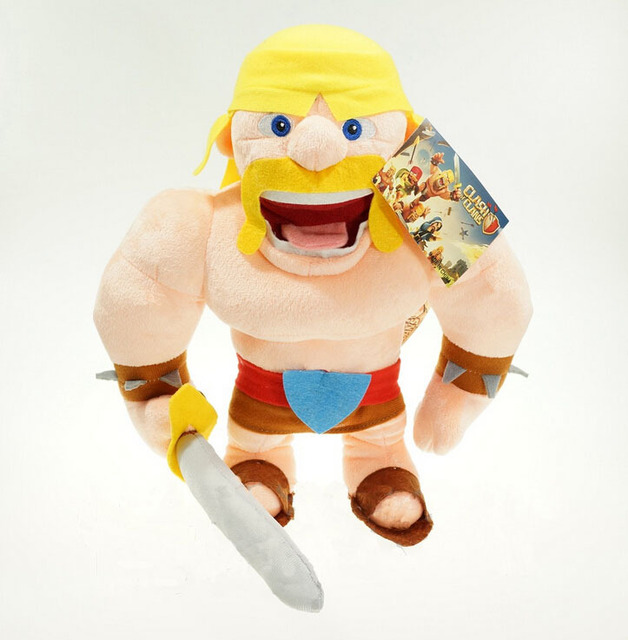 US $35 8 |Children's cute moive character plush toys COC clash of clans  barbarian stuffed toys soft PP cotton filler soft toys in Children's cute