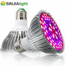 30 Вт 50 Вт 80 Вт 100 Вт полный спектр светодиодный светильник для выращивания растений в помещении лампа для выращивания цветов Семена аквариума коробка для выращивания растений красный+ синий+ UV+ IR E27