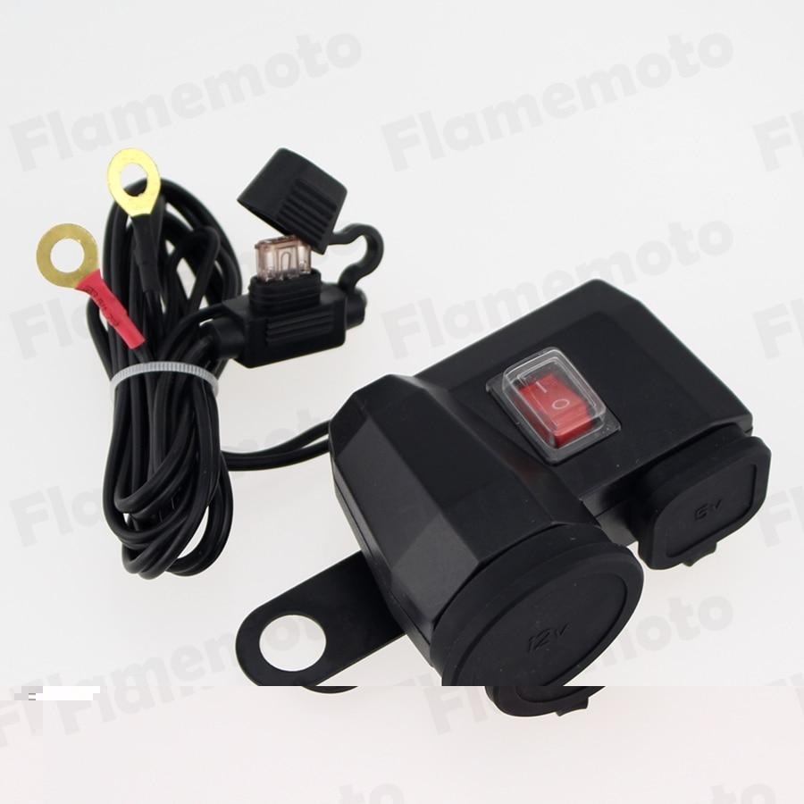 12 V Moto USB portable GPS Chargeur Allume Interface Miroir Montage Pour Harley BMW Honda Yamaha Suzuki Kawasaki Universelle