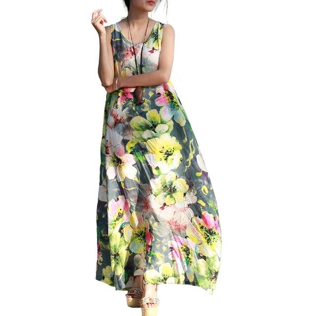 maxi dress bloemenprint
