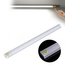 Dimmable 30CM USB LED Touch Sensor Light Strip Under Cabinet Wardrobe Cupboard Lamp Tube Bar Light