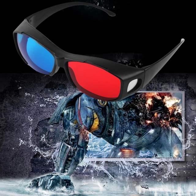8a093431942f4 placeholder 2017 Fresco Tipo Universal 3D Óculos Vermelho Azul Ciano Anaglyph  3D Plástico Óculos TV Movie DVD